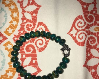 handmade hamsa bracelet