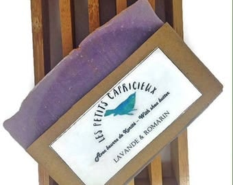 PROVENCE - handmade natural soap, cold saponification with essential oils of lavender and rosemary