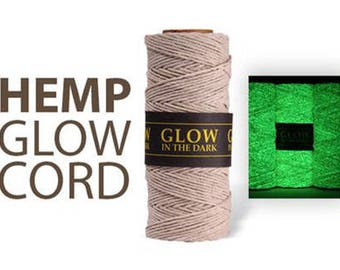 Glow In The Dark - 1MM Hemp Twine Hemptique Cord Macrame String 20lbs - 205ft Spool