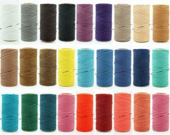 0.5MM Waxed Polyester Linhasita Cord Macrame Friendship Bracelet Thread Leather Works Knotting Artisan String - 368yards Spool