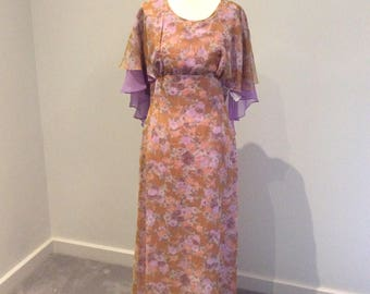Vintage 1970's maxi dress by Camette of NZ