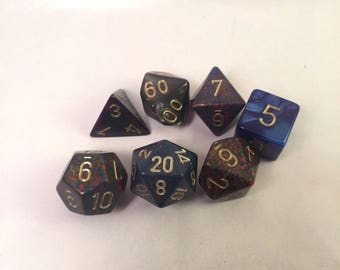 One-of-a-Kind Dice Set: Deep Space