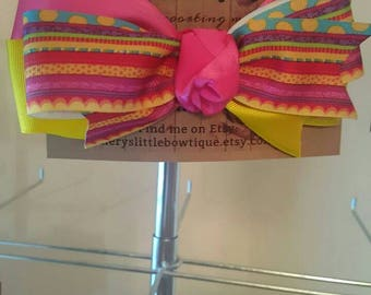 Triple Stacked boutique bow