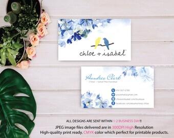 Chloe and Isabel Business Card, Custom Chloe and Isabel Card, Fast Free Personalization, Chloe and Isabel, Printable Business Card CL19