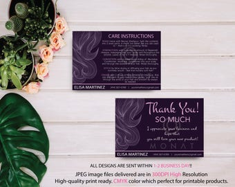 Monat Care Instruction, Monat Thank you card, Fast Free Personalization, Custom Monat Hair Care Card, Printable file MN09