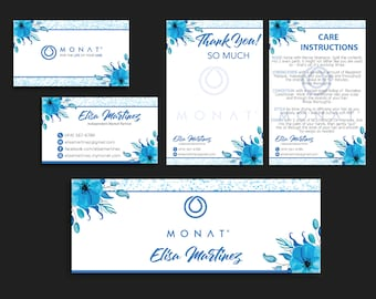 Monat Bundle, Monat Marketing Kit, PERSONALIZED Monat Hair Care Cards, Monat Global, Monat Thank Card, Monat Facebook, Printable Card MN14