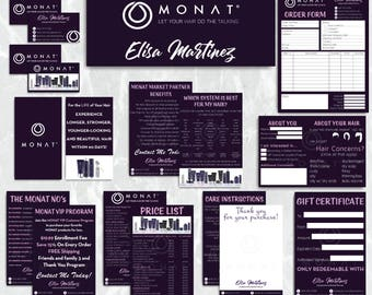 Monat Marketing Bundle, Custom Monat Business Card, Monat Hair Care, Monat Marketing Package, Monat Flyer, Printable Card MN25