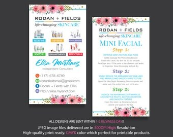 Rodan Fields Mini Facial Cards, Rodan and Fields Business Card, Intensive Renewing Serum, PERSONALIZED Rodan Fields, Digital files RF17