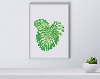 Tropical Plants wall art, Tropical print, Tropical poster, Gift for her, home decor