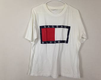 bootleg tommy hilfiger shirt size L