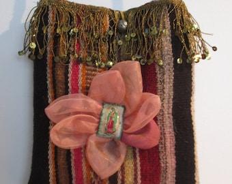 Designer Handbag, handmade, vintage materials