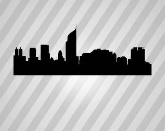 Indonesia Skyline Silhouette - Svg Dxf Eps Silhouette Rld RDWorks Pdf Png AI Files Digital Cut Vector File Svg File Cricut Laser Cut