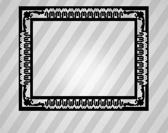 Frame Silhouette Frames - Svg Dxf Eps Silhouette Rld RDWorks Pdf Png AI Files Digital Cut Vector File Svg File Cricut Laser Cut