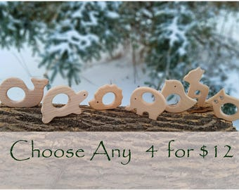 Wooden Teethers Natural Organic Baby Teething Toys