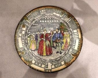 Queen Elizabeth Visits Old Moreton 1589 Royal Doulton antique decorative plate