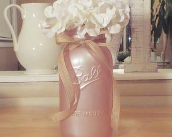 Large painted mason jar,half gallon mason jar,mason jar decor,mason jar centerpiece,baby shower,wedding decor,farmhouse decor,rustic decor