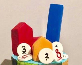 Catan Fondant Cake Topper set
