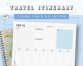 business trip planner template