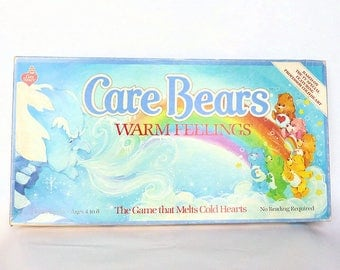 Vintage 1980's CARE BEARS Warm Feelings The Game That Melts Cold Hearts COMPLETE