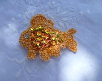 fish avirl! fish hook orange with glitter