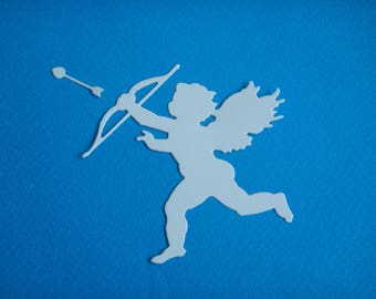 Cutout Cupid pitcher arrow for creating white drawing paper