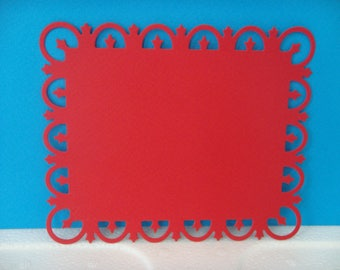 Cut large red frame with round edges