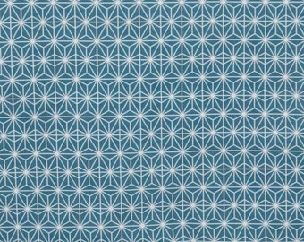 Fabric, Scandinavian, Eastern Sun, turquoise, geometric patterns, thévenon