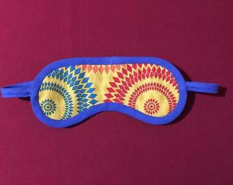 Masque de nuit confortable coton et satin joli design