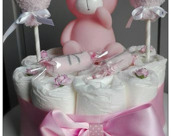 To offer at a baby diaper cake