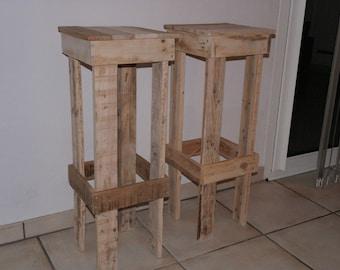 Spirit Upcycled pallet wood bar stool '