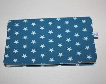 Cotton fabric checkbook stars