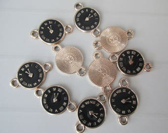 5 charm connector watch clock gold metal