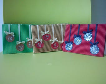 "Greeting card ""Christmas"" cardboard corrugated"