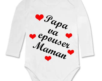 Humor Daddy Bodysuit going to marry MOM