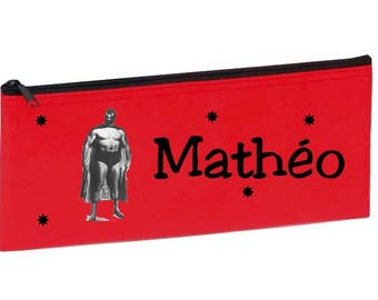 Red wrestler personalized with name package