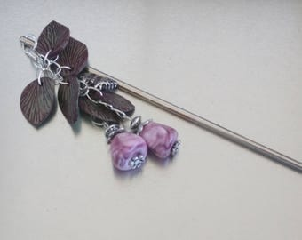 Cold porcelain and glass Pearl hair stick