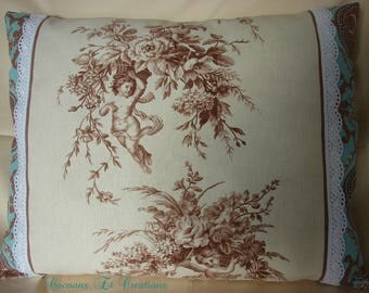 Pillow cover, unique, shabby chic style