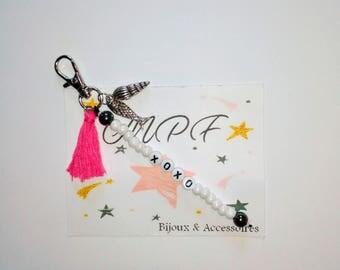 Custom bag /bijpoux keychain