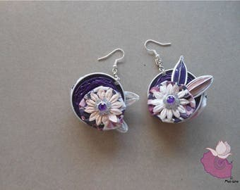 VIOLETS 08 CAPSULES - COLLECTION 6 VIOLET EARRINGS