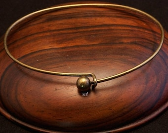 1 Bangle brass raw 62mm in size