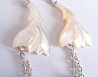 Pearl Earrings and hanging beads