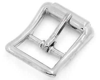 2 silver 9x16mm belt buckles: sea 0166