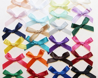 250 x 7mm: 25 colours - 02369 Satin Ribbon bows