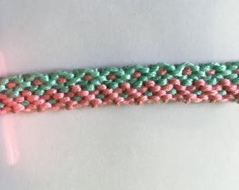 Bracelet pale pink and pale blue