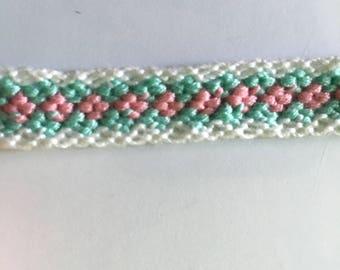 Pale pink and pale blue Friendship Bracelet
