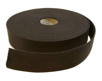 Black strap 30 mm 100% cotton