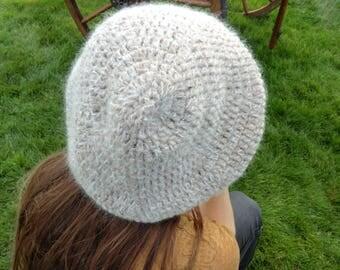 soft crochet beret