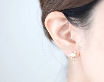 Studs Flamingo GOLD Musthave, trend