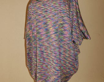 Large multicolored tunic dress