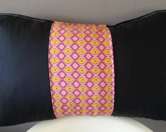 Cushion cover 50 x 30 cm. black cotton and geometric patterns / interior design